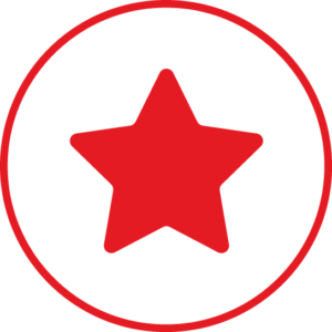 Circular icon with a star in the centre