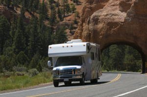 RV in Mountains