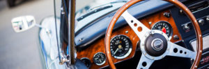 Close up of a classic car interior