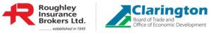 Roughley Insurance and Clarington Board of Trade logos