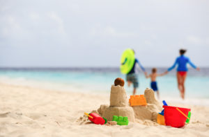A family enjoys the beach and a worry free vacation