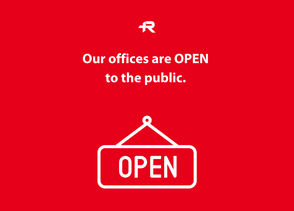 Roughley Insurance Offices are Open to the Public